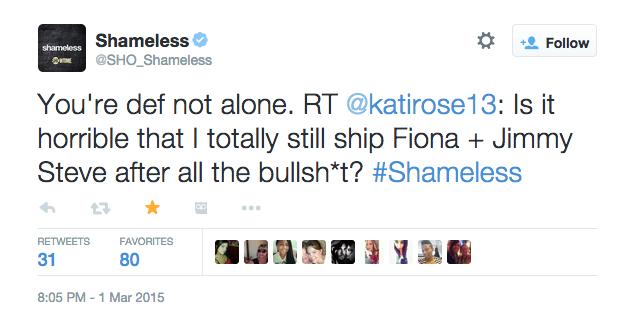 shameless tweet
