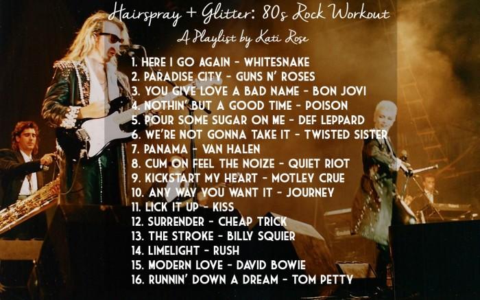 Hairspray Glitter 80s Rock Workout By Kati Rose